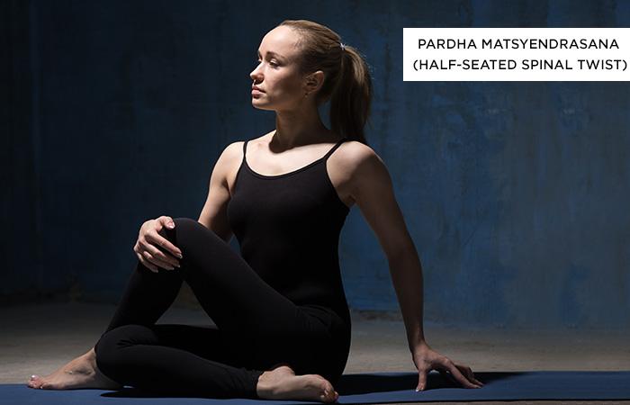 Ardha-Matsyendrasana-(Half-Seated-Spinal-Twist) - Yoga Poses For Irritable Bowel Syndrome