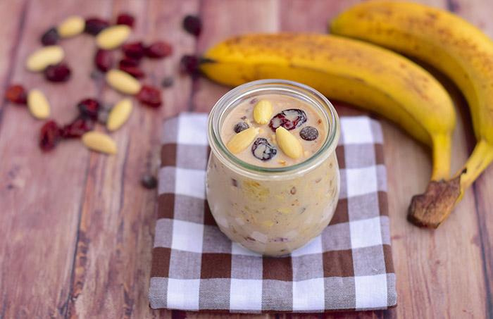Banana Peanut Butter Refrigerator Oatmeal