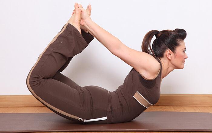 Bow-Pose-(Dhanurasana)