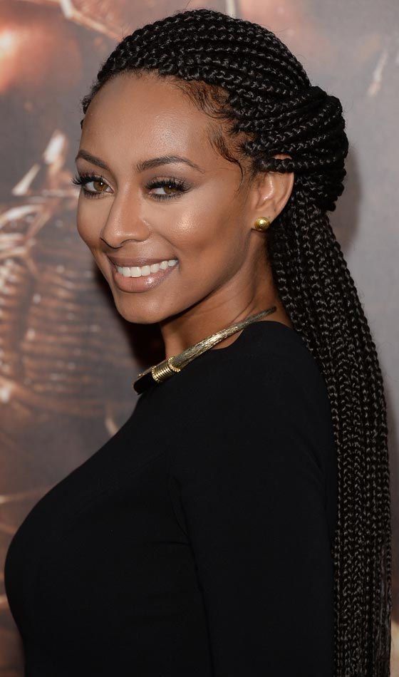 Box Braids Half Updo