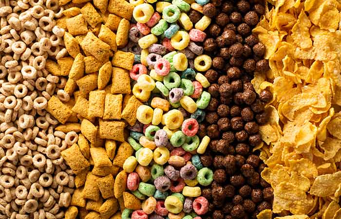 Food High In Sugar - Breakfast Cereals