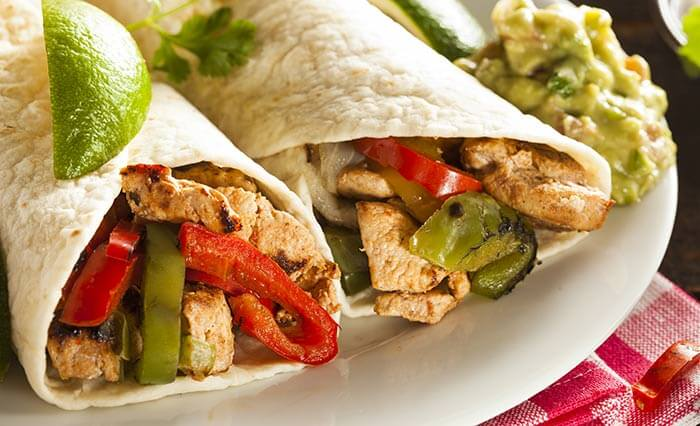 Low Calorie Dinner Recipes - Chicken Fajitas