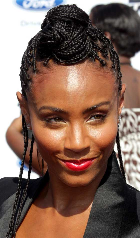 10 stunning braided updo hairstyles for black women 9 cornrows pompadour urmus Choice Image
