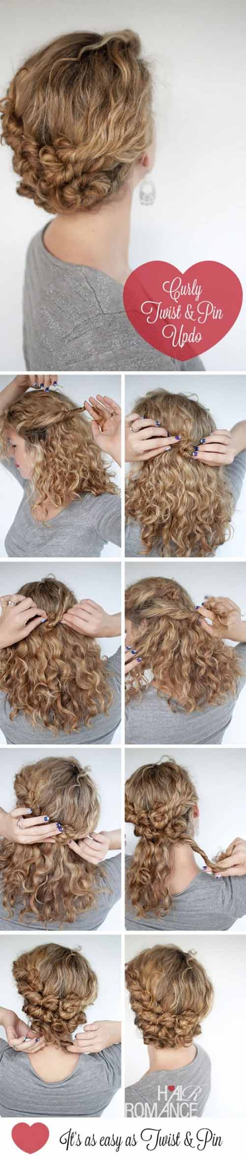 10 Incredibly Stunning DIY Updos For Curly Hair