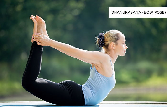 Dhanurasana (Bow Pose) - Yoga Poses For Irritable Bowel Syndrome