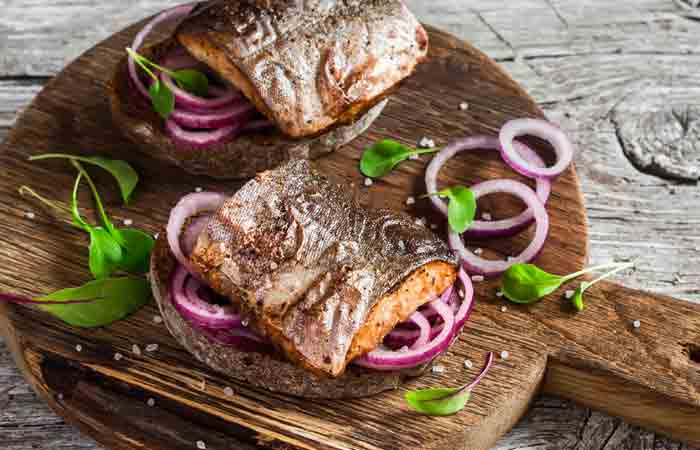 Fish Steak With Onions