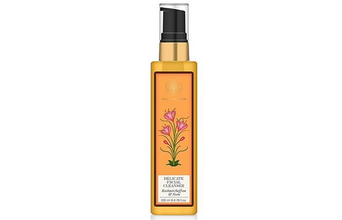 Best Paraben Free Cosmetics - Forest Essentials Delicate Facial Cleanser Kashmiri Saffron & Neem