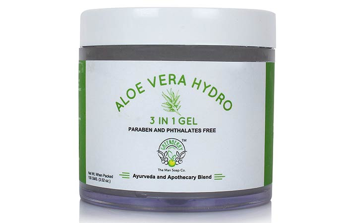 Best Paraben Free Cosmetics - Greenberry Organics Aloe Vera Hydro 3-In-1 Gel