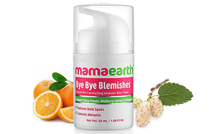 Best Paraben Free Cosmetics - Mamaearth Bye Bye Blemishes