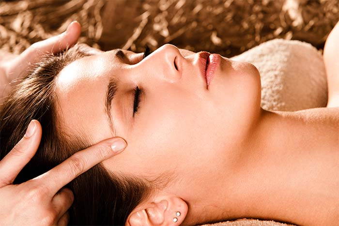 Massaging Around The Eyes
