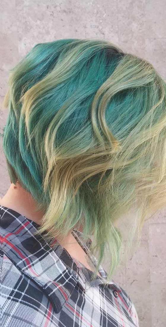 Mermaid Angled Bob