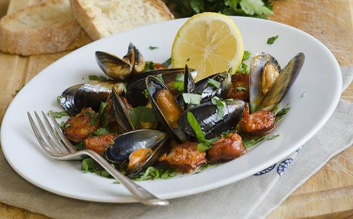 Mussels-In-Chorizo-And-Tomato-Broth