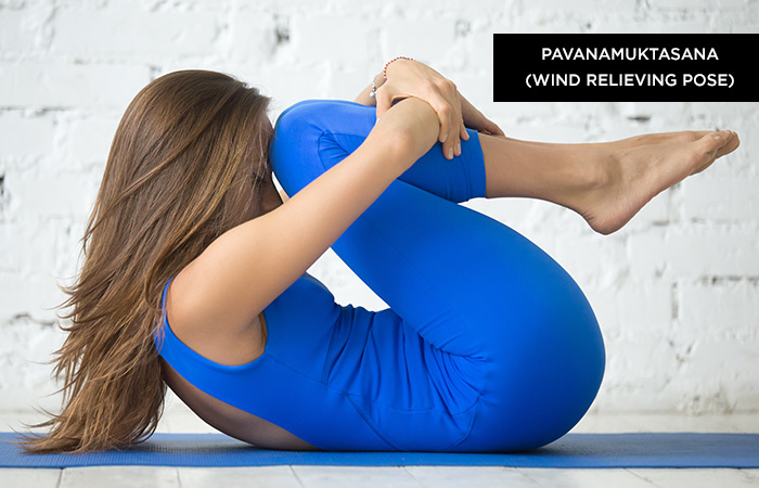 Pavanamuktasana (Wind Relieving Pose) - Yoga Poses For Irritable Bowel Syndrome