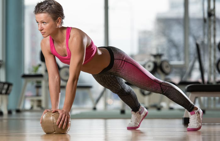 Push Ups With Medicine Ball