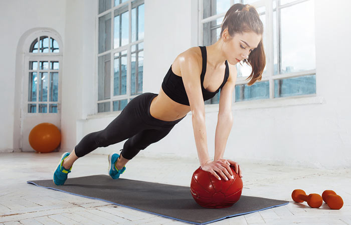 Push-ups With Medicine Ball