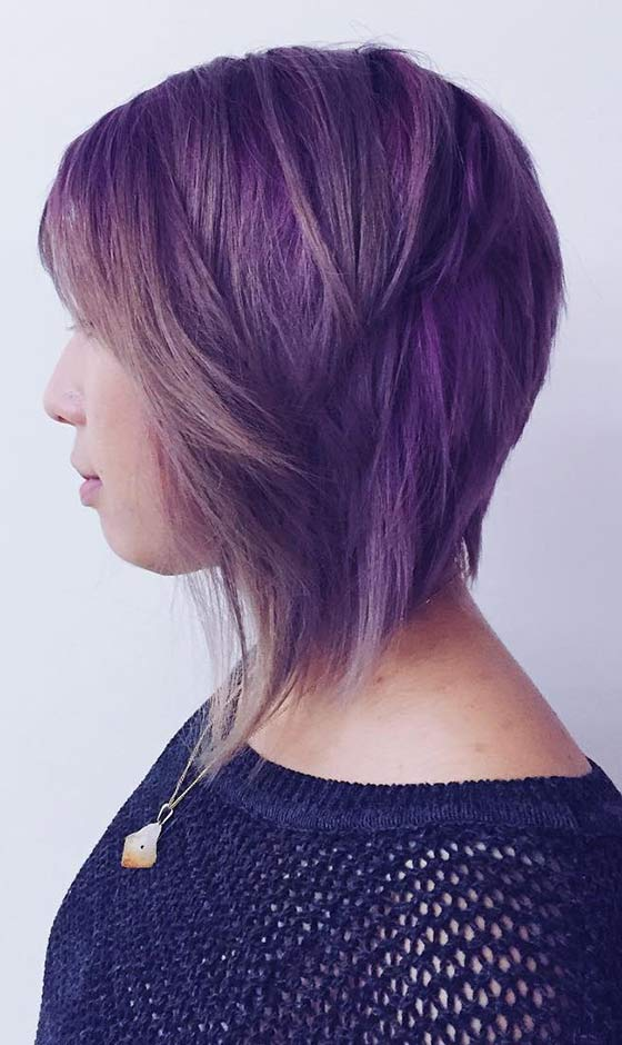 Shaggy Purple Bob