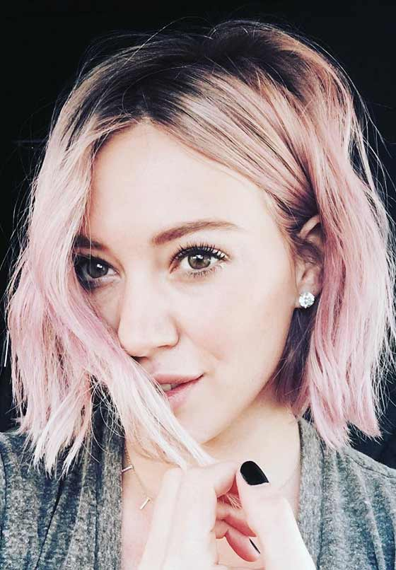Short Hair With Pastel Colors