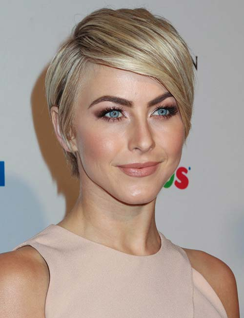 Side-Swept Blonde Pixie