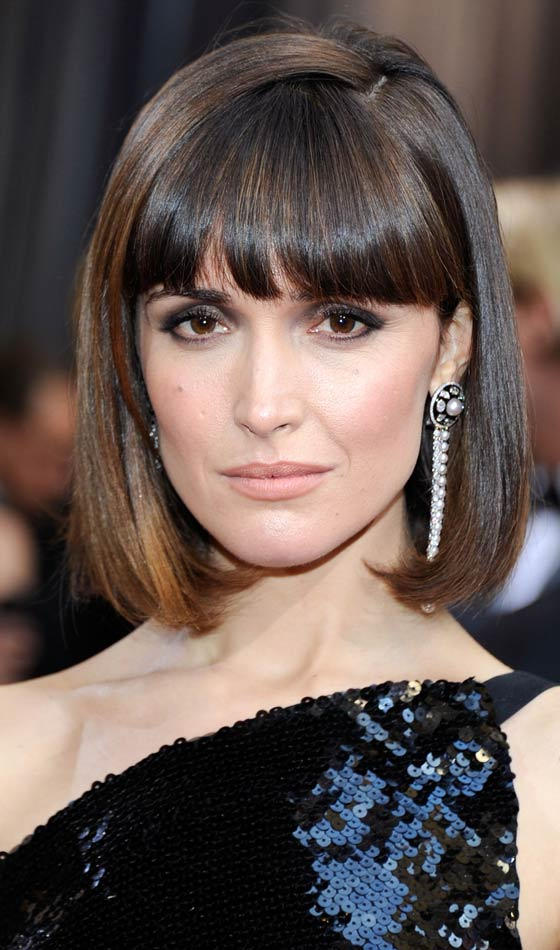 Sleek Bob With Blunt Bangs