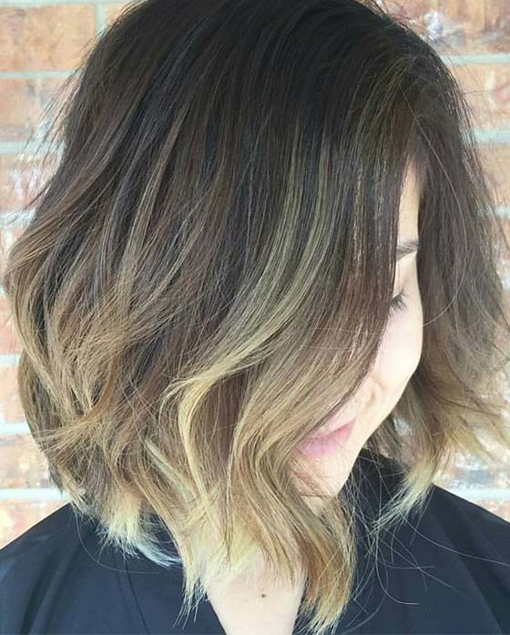 Soft Waves With Balayage
