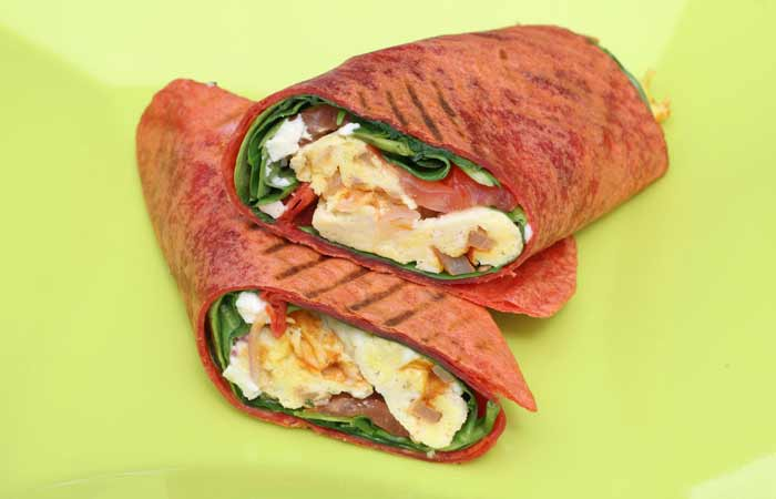 Spinach-And-Egg-Wrap
