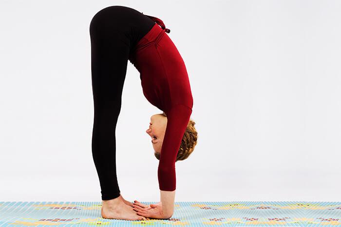 Standing Forward Bend Pose Or Uttanasana