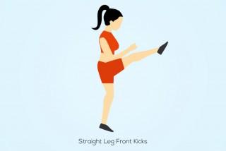 Straight-leg-front-kicks