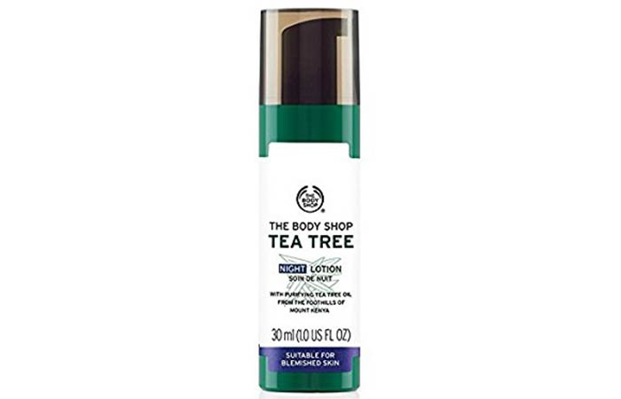 Best Paraben Free Cosmetics - The Body Shop Tea Tree Night Lotion