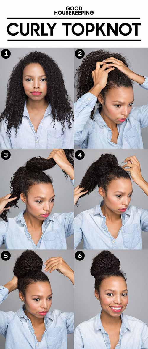 The Curly Top Knot