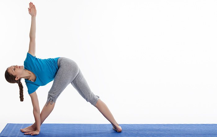 Triangle Pose Or Trikonasana