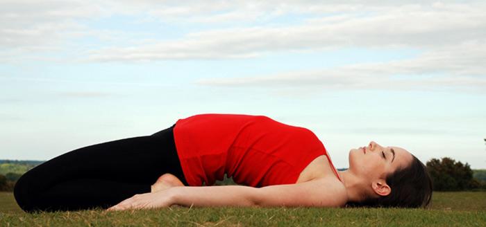 Supta Virasana - Yoga for Nausea