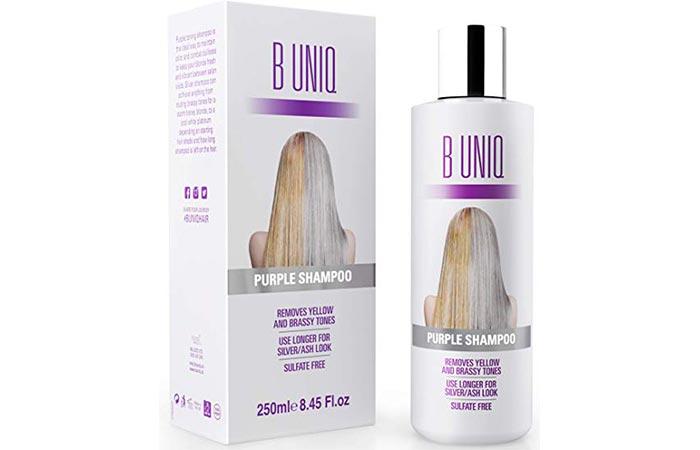 B UNIQ Purple Shampoo For Blonde Hair