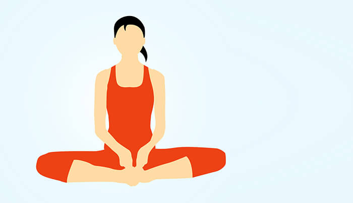 Bound Angle Pose Or Baddha Konasana