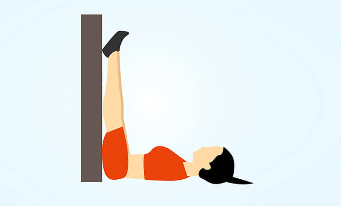 Legs Up the Wall Pose Or Viparita Karani