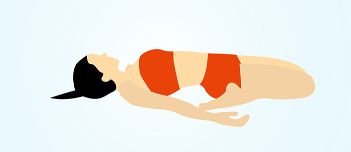 Reclining Hero Pose Or Supta Virasana