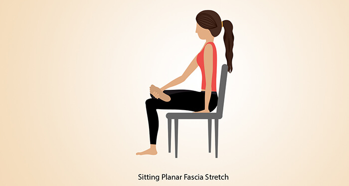 Sitting Plantar Fascia Stretch