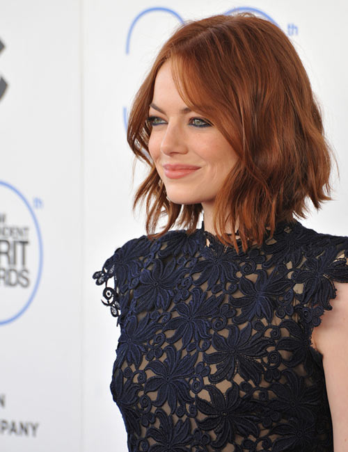 21. Reddish Brown Layered Bob