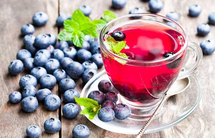 7. Blueberry Tea