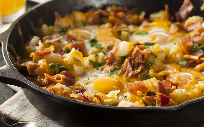 Egg Recipes For Dinner - Bacon And Egg Hash