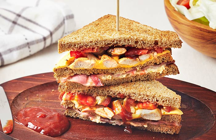 Healthy Sandwiches For Weight loss - Chicken And Corn Sandwich