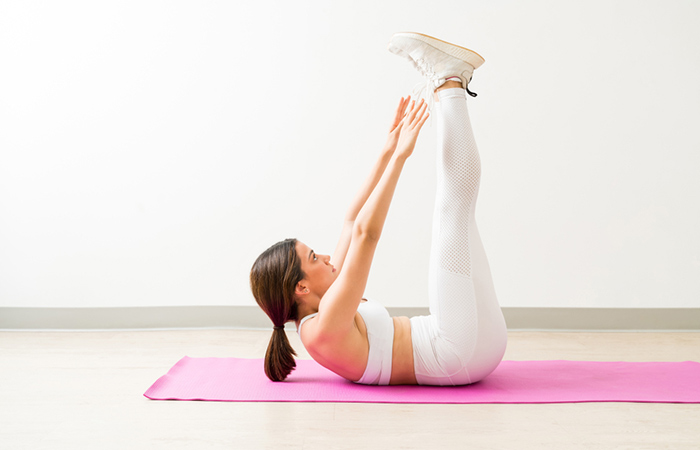 Crunches With Legs Raised