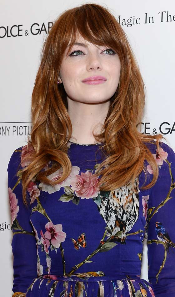 4. Glam Waves With Sweeping Bangs: