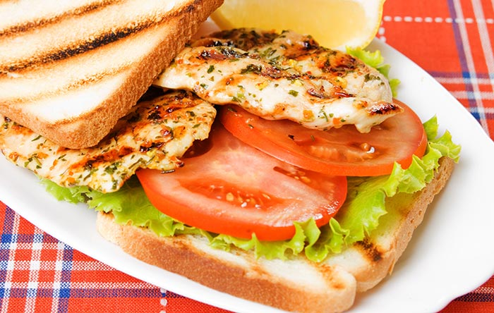 Healthy Sandwiches For Weight loss - Grilled Chicken Sandwich