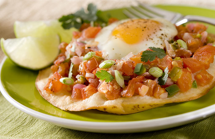 Egg Recipes For Dinner - Huevos Rancheros With Queso Fresco