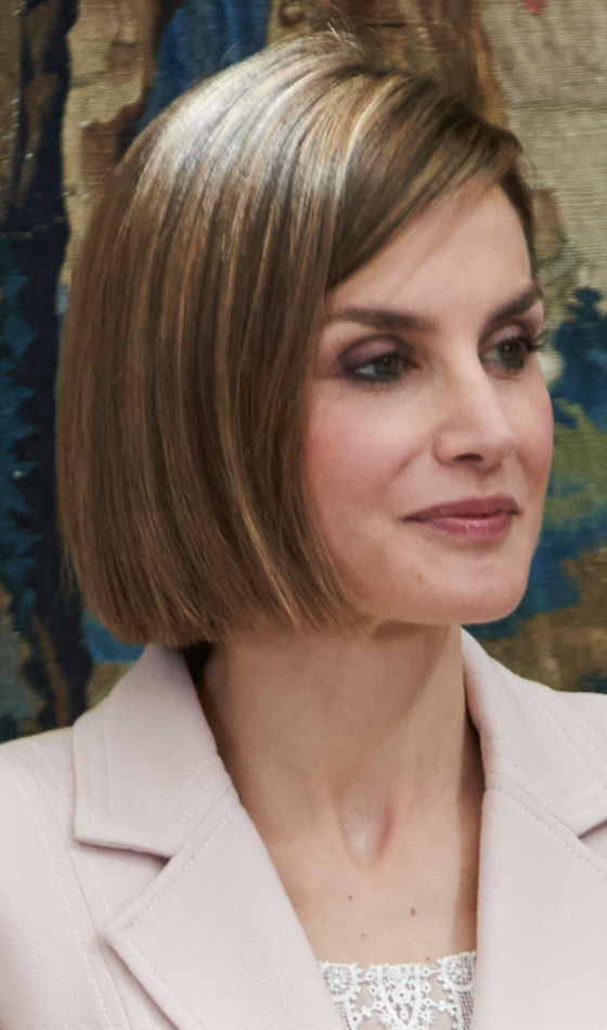 Light Brown Side-Swept Bob