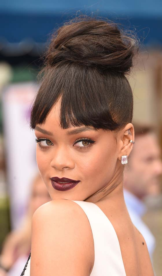 Wondrous 10 Gorgeous Hairstyles With Bangs For Women With Dark Skin Hairstyles For Men Maxibearus
