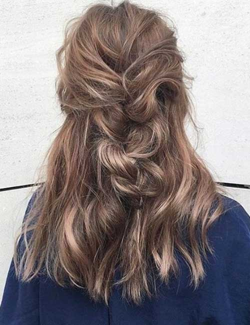 Messy Half Braid