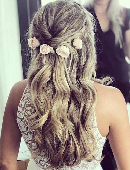 Romantic Half Updo