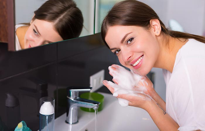 Best Morning Skin Care Routine - Follow-Up With A Water-Based Cleanser
