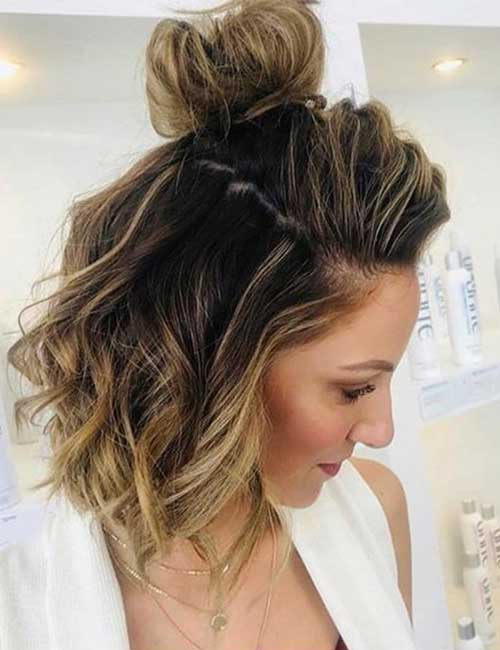 The Messy Half Top Knot